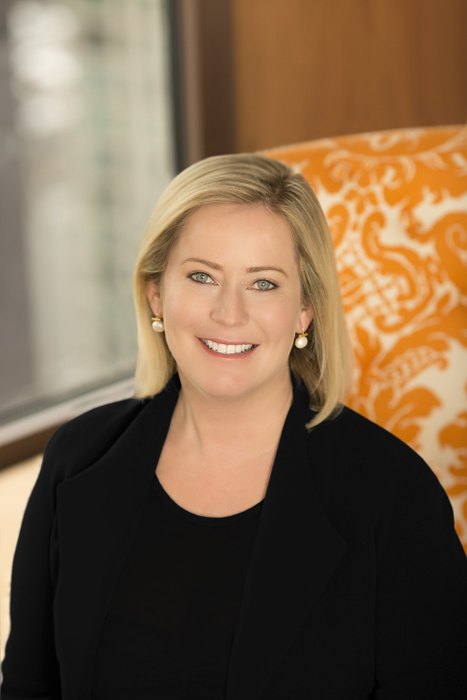 corporate headshot of Preferred Hotel Group CEO Lindsey Ueberroth - Makeup Artist: Traci Fine