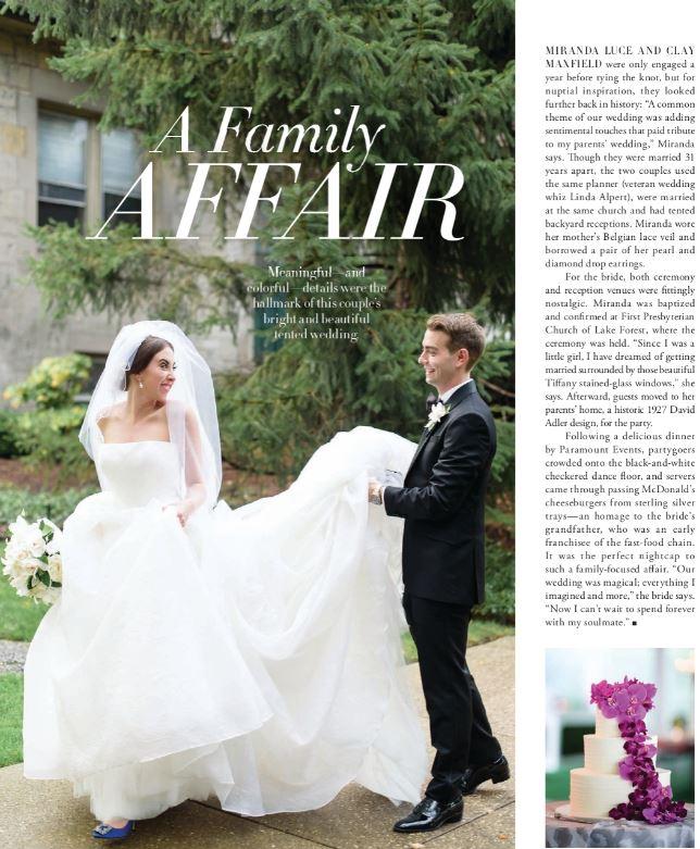 Modern Luxury Weddings North Shore article featuring the work wedding makeup artist Traci Fine of Fine Makeup Art & Associates