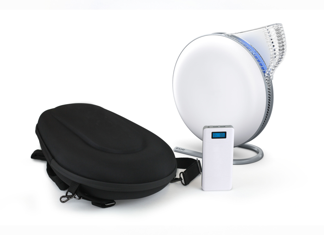 Portable Air Purifier used during makeup application